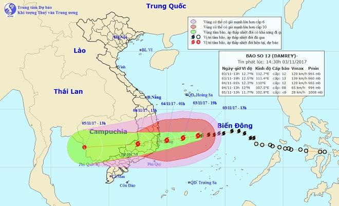 Bão số 12 tăng tốc, giật cấp 15 khi đổ bộ Phú Yên – Bình Thuận - 1