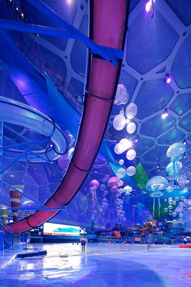 """Nhà thi đấu cũ kỹ hóa """"đại dương"""" đẹp ảo diệu như hành tinh khác - 5"""