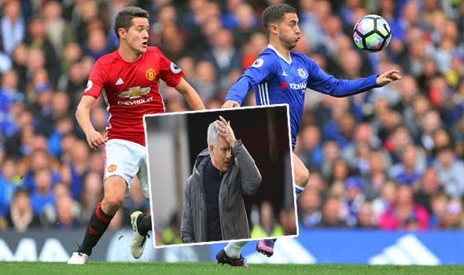 """Thư hùng Chelsea - MU: Diệu kế nào để Mourinho """"khóa"""" Hazard? 1"""