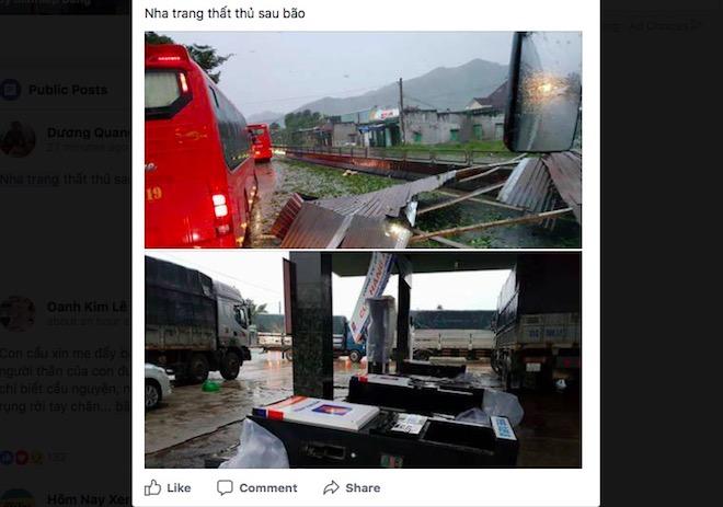 """Dân mạng """"rần rần"""" đăng ảnh bão kinh hoàng ở Nha Trang - 1"""