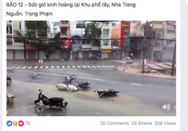 """Dân mạng """"rần rần"""" đăng ảnh bão kinh hoàng ở Nha Trang - 2"""