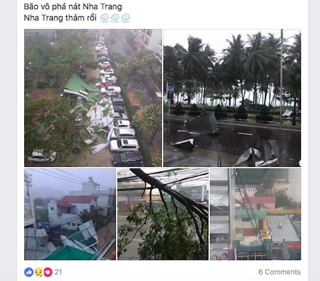 """Dân mạng """"rần rần"""" đăng ảnh bão kinh hoàng ở Nha Trang - 6"""