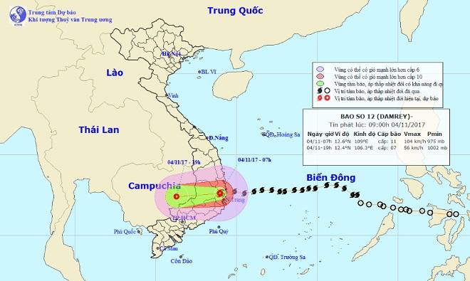 Bản tin thời tiết 9h30: Bão số 12 hoành hành đất liền, mưa to