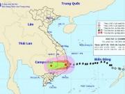 Tin tức trong ngày - Bản tin thời tiết 9h30: Bão số 12 hoành hành đất liền, mưa to khắp nơi