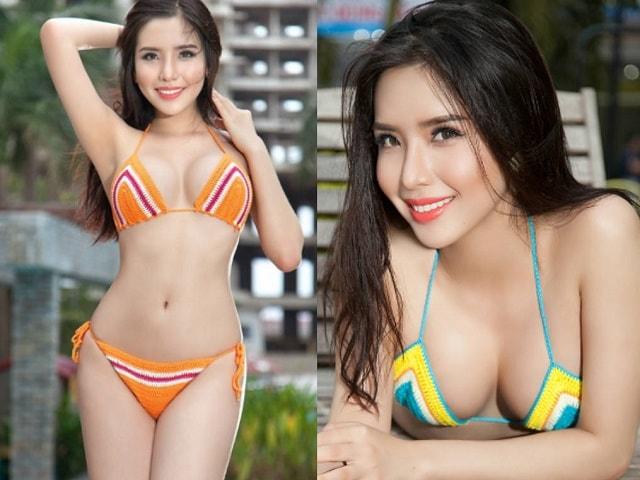 Ảnh áo tắm cực nóng của á hậu Việt có vòng ba 1 mét