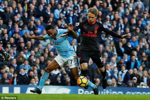 TRỰC TIẾP Man City - Arsenal: Jesus lập công, Man xanh tái lập cách biệt 2 bàn 30