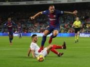Chi tiết Barcelona - Sevilla: Messi lĩnh thẻ vàng vô duyên (KT)