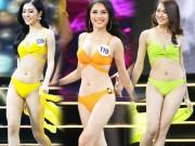 """Màn diễn bikini  """" nảy lửa """"  của top 45 Hoa hậu Hoàn vũ Việt Nam"""