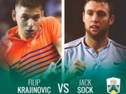 Jack Sock - Krajinovic: 2 tiếng quần chiến, nâng cúp oai hùng (Chung kết Paris Masters)