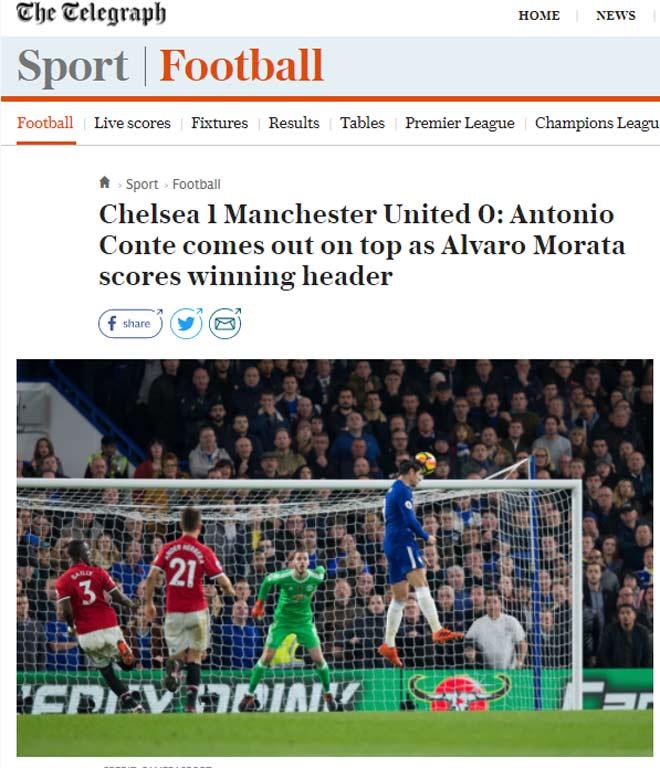 """Báo chí Anh: Cái uy """"Vua"""" Chelsea, MU-Mourinho không bài vở 2"""
