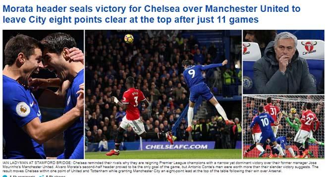 """Báo chí Anh: Cái uy """"Vua"""" Chelsea, MU-Mourinho không bài vở 1"""