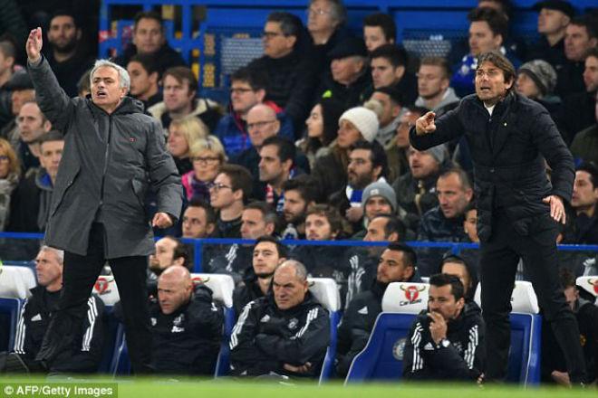 """Đấu khẩu MU - Chelsea: Mourinho nói """"cứng"""", bị Conte xem thường ra mặt - 1"""