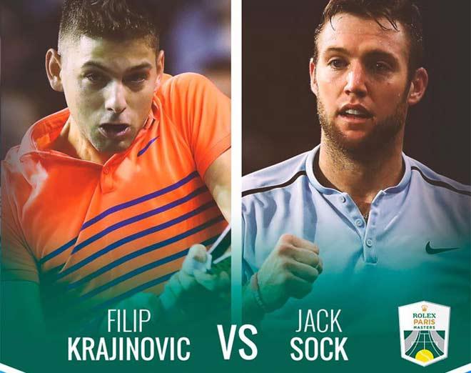 Jack Sock - Krajinovic: 2 tiếng quần chiến, nâng cúp oai hùng (Chung kết Paris Masters) 1