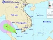 Xuất hiện áp thấp nhiệt đới trên vịnh Thái Lan
