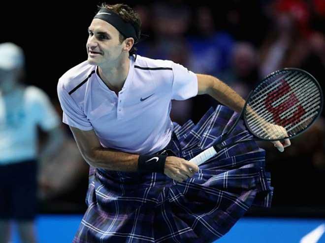 Federer mặc váy đấu Murray: Chiến thắng kịch tính, mãn nhãn khán giả 1