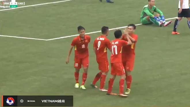 U19 Việt Nam - U19 Lào: Tấn công dồn dập, tạo mưa bàn thắng - 1