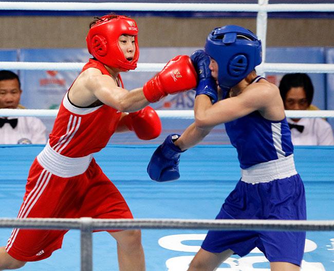 Người đẹp boxing Việt Nam vô địch châu Á sau trận kịch chiến 8