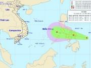 Vùng áp thấp đang mạnh lên sắp vào Biển Đông