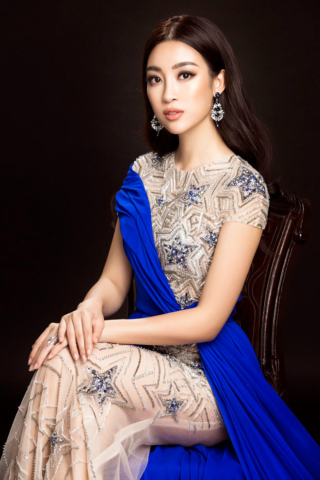 Hoa hậu Mỹ Linh lần đầu mặc xẻ cao đến thế ở Hoa hậu Thế giới - 9