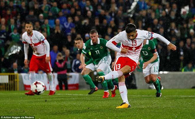 Bắc Ireland - Thụy Sỹ: Sai lầm chết người & quả 11m định mệnh (play-off World Cup 2018)