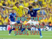 Chi tiết Thụy Điển - Italia: Nỗ lực vô vọng (KT)