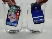 """Dế sắp ra lò - BẤT NGỜ: iPhone X """"chết sặc"""", Galaxy S8 vẫn sống trong nước lạnh"""