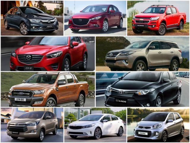 10 mẫu ô tô bán chạy nhất Việt Nam tháng 10/2017