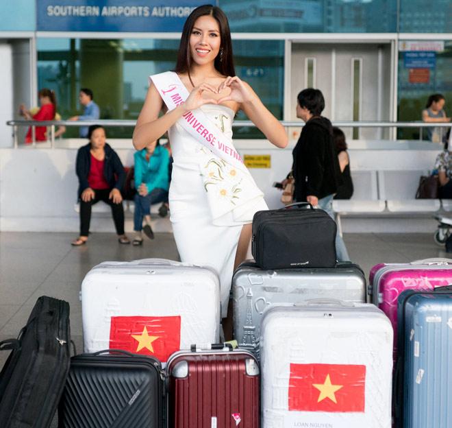 Nguyễn Thị Loan mặc trễ nải đi Mỹ thi hoa hậu Hoàn vũ - 5