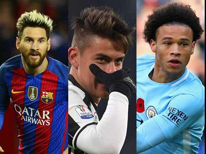 Kèo trái đồng loạt thống trị châu Âu: Messi, Dybala, Sane 2