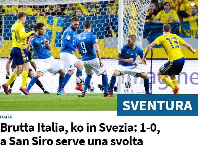 """Báo chí quốc tế: Italia tiến gần """"bi kịch"""" 60 năm, triệu fan oán thán Ventura - 1"""