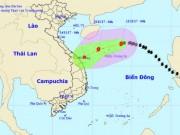 Bão số 13 giật cấp 11 áp sát quần đảo Hoàng Sa