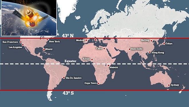 Trạm không gian 8,5 tấn rơi về Trái Đất: Việt Nam trong vùng nguy hiểm - 2