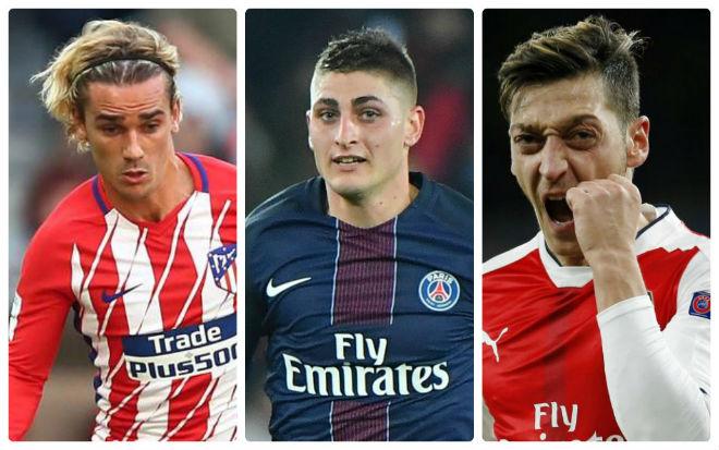MU - Mourinho mơ siêu đội hình: Griezmann, Ozil, Verratti cùng đổ bộ 2