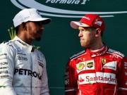 """Bảng xếp hạng đua xe F1 - Brazilian GP: Vettel  """" lên đỉnh """" , Hamilton vẫn trăn trở"""
