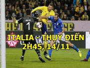 Italia - Thụy Điển: Lời nguyền Ibrahimovic  &  điểm tựa Lindelof