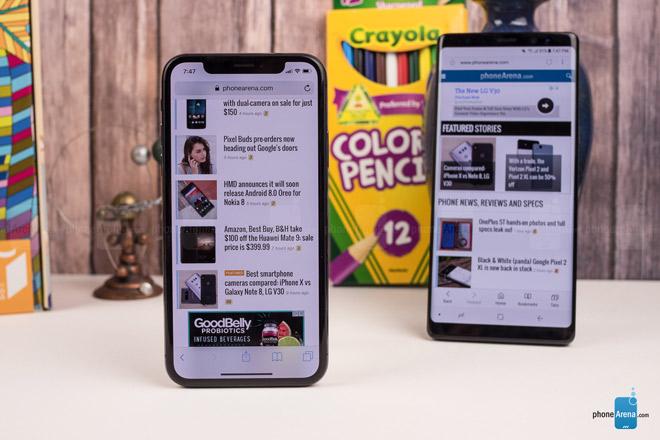 """So sánh iPhone X với Galaxy Note 8: """"Cuộc chạm trán nảy lửa"""" - 7"""