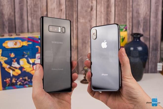 """So sánh iPhone X với Galaxy Note 8: """"Cuộc chạm trán nảy lửa"""" - 15"""