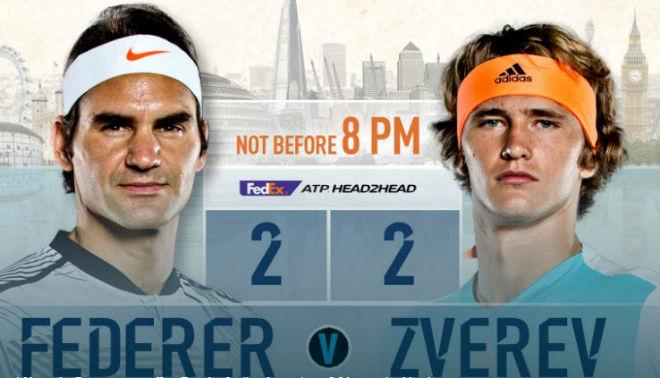 """ATP Finals ngày 3: Zverev quyết hạ Federer, đòi nợ cho """"sư phụ"""" 1"""