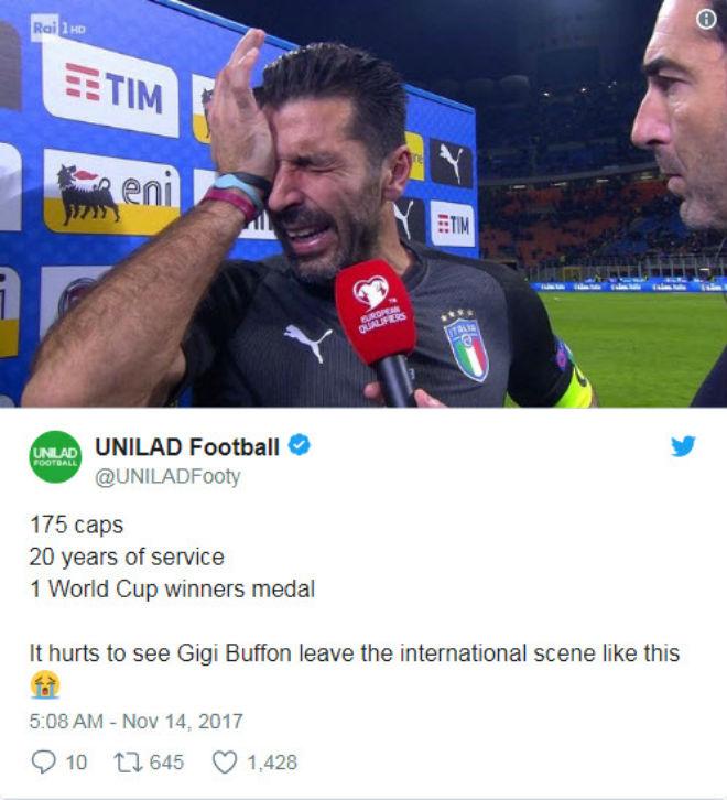 "Italia, Buffon lỡ World Cup: Triệu fan xót xa, ""cầu cứu"" Ancelotti - 2"