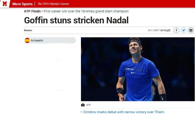 """Nadal chia tay ATP Finals: Báo chí """"cược tất tay"""" cho Federer 3"""