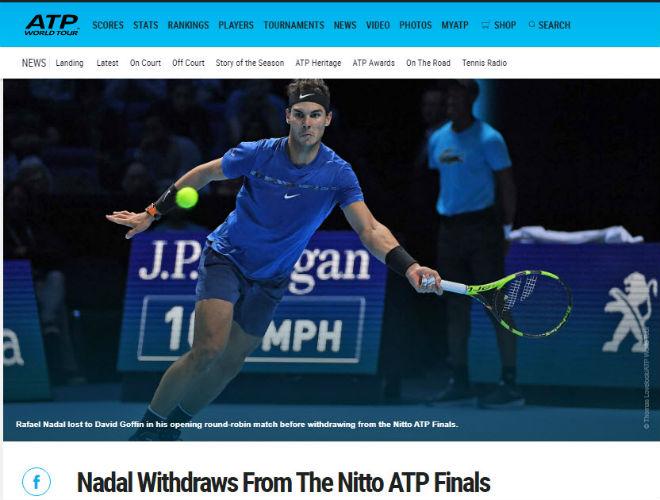 """Nadal chia tay ATP Finals: Báo chí """"cược tất tay"""" cho Federer 4"""