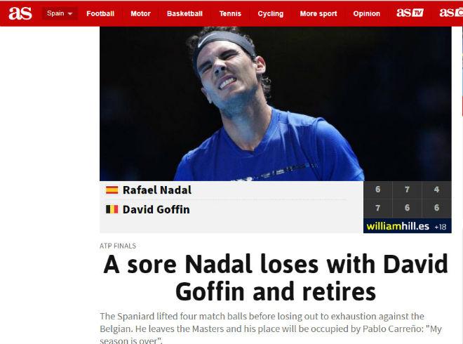 """Nadal chia tay ATP Finals: Báo chí """"cược tất tay"""" cho Federer 2"""