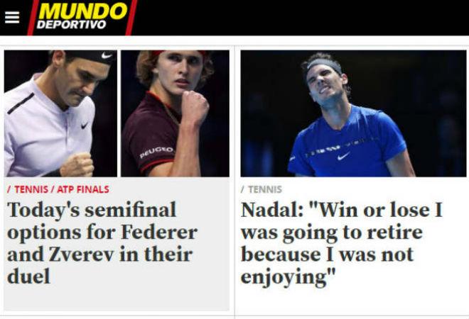"""Nadal chia tay ATP Finals: Báo chí """"cược tất tay"""" cho Federer 7"""