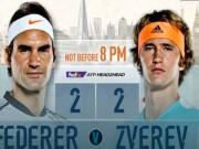"""Thể thao - ATP Finals ngày 3: Zverev quyết hạ Federer, đòi nợ cho """"sư phụ"""""""