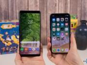 """Thời trang Hi-tech - So sánh iPhone X với Galaxy Note 8: """"Cuộc chạm trán nảy lửa"""""""