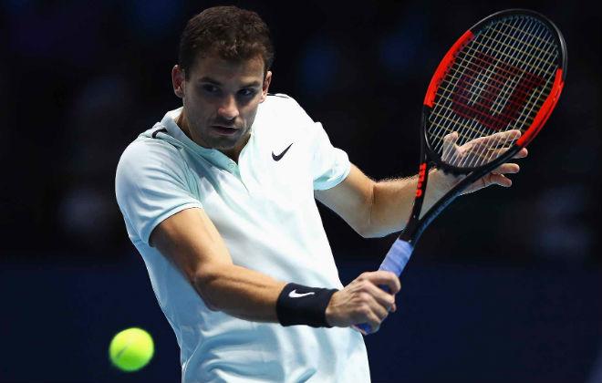 Dimitrov - Goffin: Kinh hoàng 75 phút cực hình (ATP Finals) 1