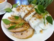 Mục sở thị quá trình làm bánh cuốn Thanh Trì - món ăn trong Quốc yến thiết đãi TT Mỹ
