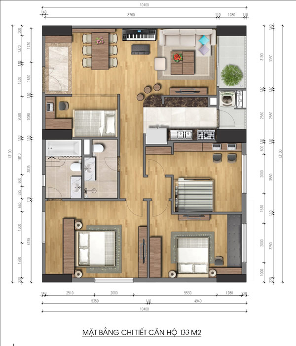 Căn hộ 4 phòng ngủ chiếm lĩnh thị trường bất động sản Hà Nội - 3