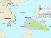 Vùng áp thấp đang mạnh dần lên sắp đi vào Biển Đông