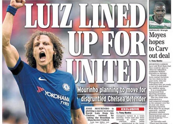 Chuyển nhượng MU: Mourinho tăng tốc, ra giá Luiz 62 triệu bảng 1